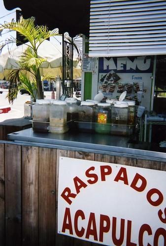 Raspados stand