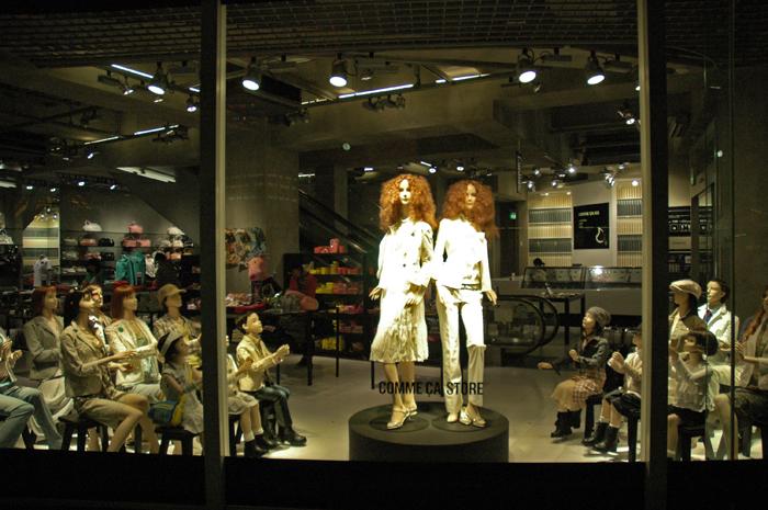 櫥窗的時尚創意