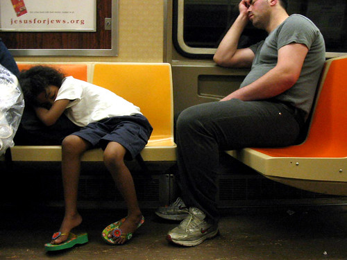 Subway Sleepers: 6 AM, Sunday Morning