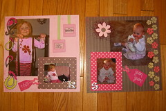 My cute nieces, scrapbook spread