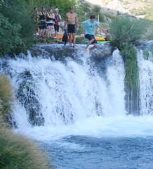 waterfall leap