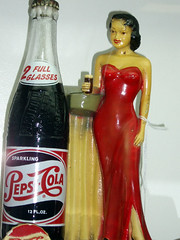 Pepsi-Cola Girl display