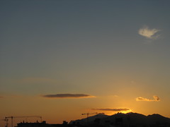 Sunset from our new home in Terrassa, Spain