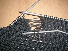 Knit operation
