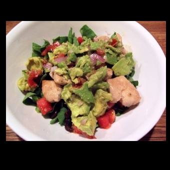 Not Mine - Yakitori Guacamole Salad