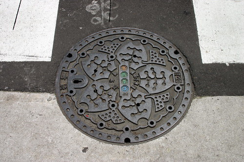 decorated manhole