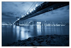 Under the Manhatttan Bridge - NYC by Night photo by Arnold Pouteau's