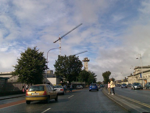 Cranes over the N4, near Hueston Station