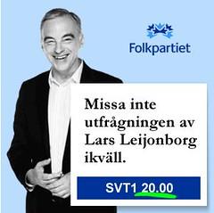 Lars Leijonborg på SVT i kväll