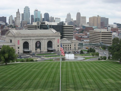 Union Station with Kansas City Skyline in the backdrop