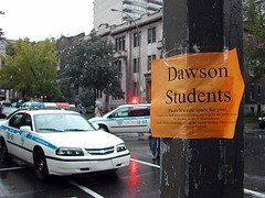 Sign for Dawson College Students by spotmenow (cc)