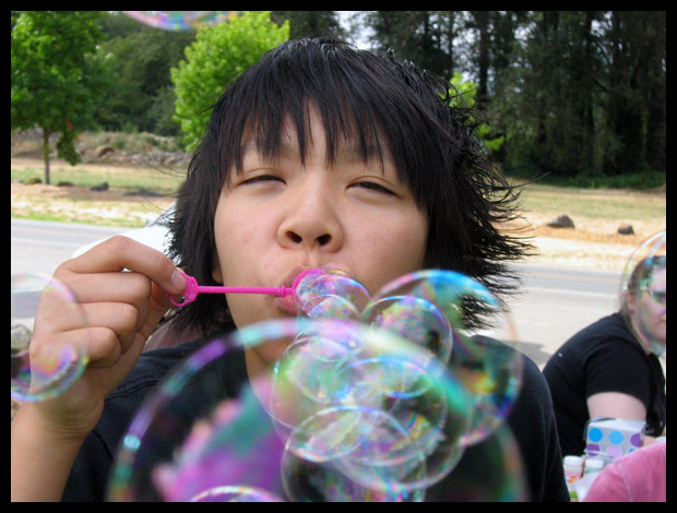 Bubbles In Your Face!