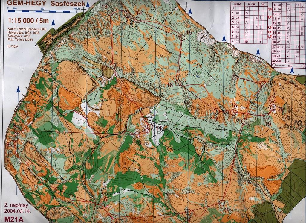 Gém-hegy - Spari Kupa 2004 - Térkép