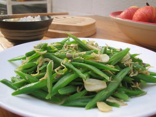 runner beans stir fry