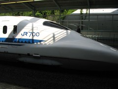 0908 Bullet train (shinkansen) at Shin-Kobe Station