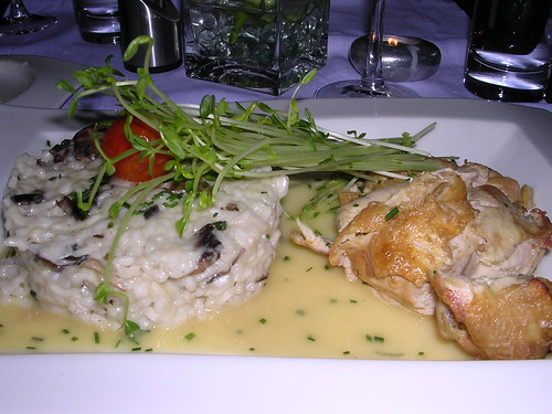 Lemon Chicken Breast with Mushroom Risotto