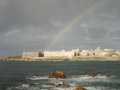 Arco Iris junto a la Torre de Hércules