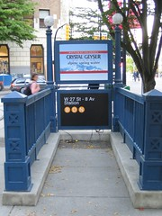 Faux subway entrance