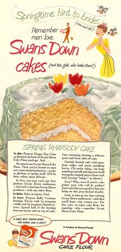 Vintage cake flour ad