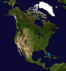 Imagen satelital de América del Norte