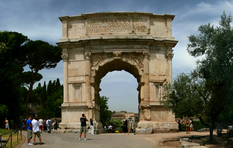 Panoramic Images of the World: Arch of Titus - Roman Forum
