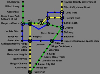 Proposed heavy rail for Howard County, from the Howard County blog