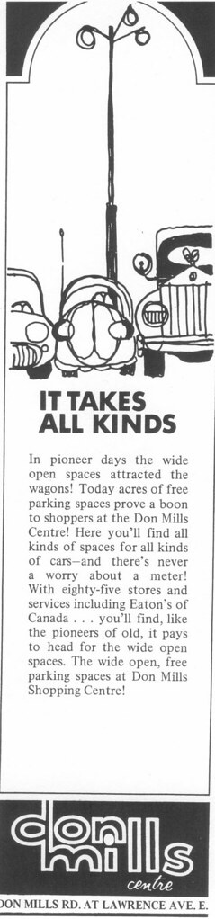 Vintage Ad #86 - It Takes All Kinds to Park at the Don Mills Centre