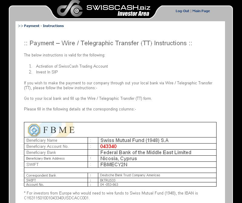 online telegraphic transfer
