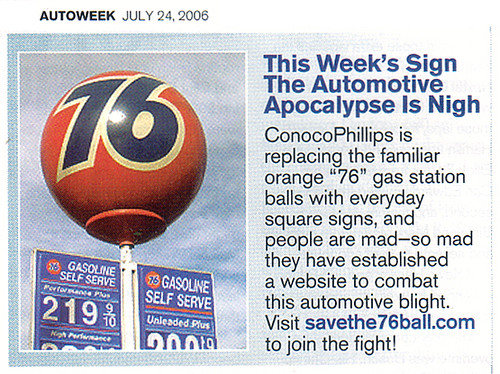 Save the 76 Ball in Autoweek