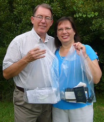 Keith & Kay with travel bags