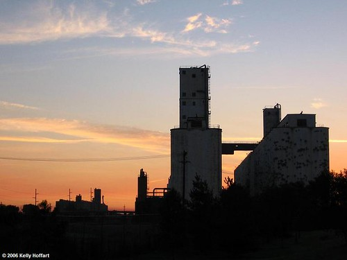 Sunrise over Grain Elevators