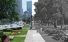 Toronto Before: Looking south from Queens Park photo by alad1n