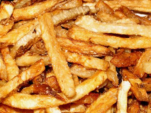 Pommes frites en gras de canard
