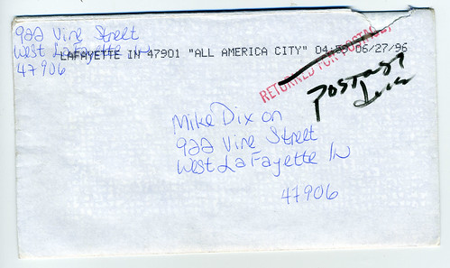 strange letter address