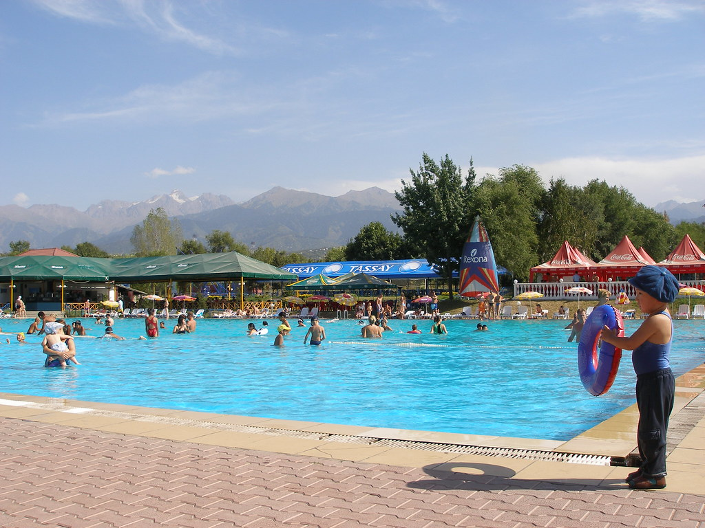 Public swimming pool, Almaty