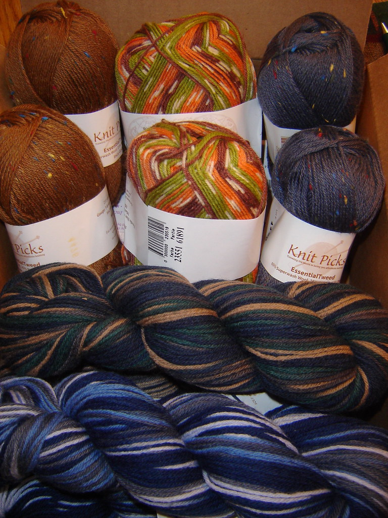 Yarn for Christmas presents from KnitPicks