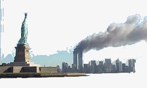 El inconfundible skyline de Manhattan aquél trágico día