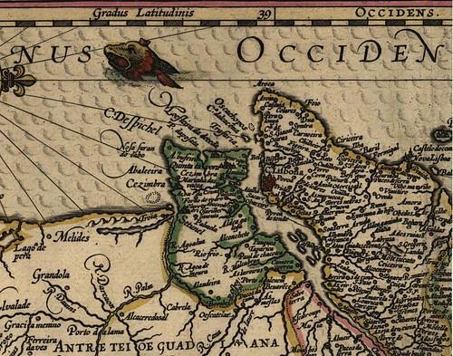 mapa  de Portugal de Fernando Álvares Seco - 1560