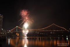 Fireworks on the Story Bridge 6