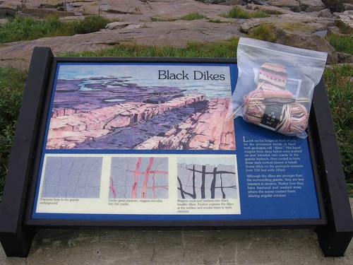 Sock and interpretive sign