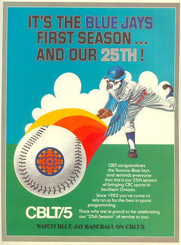 Vintage Ad #53 - CBC 25, Blue Jays 1