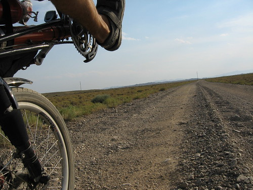 Gravel road to Sharin Canyon, Kazakhstan / シャリンカンヨンへ行く砂利道(カザフスタン)