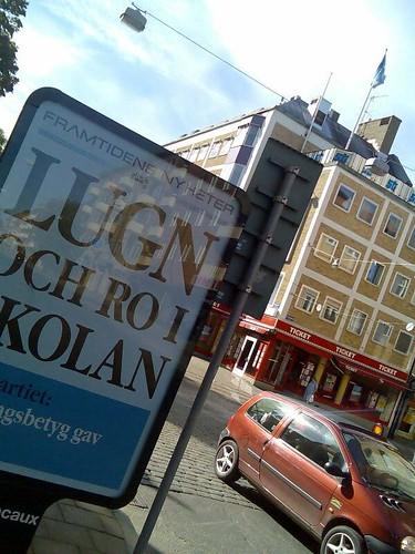 Annonstavla: 'Framtidens nyheter: Lugn och ro i kolan'