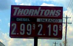 Thorton's 9/6/2006 Gas/Diesel Price