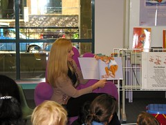 Emma Quay reading Good Night, Me at Sutherland Library