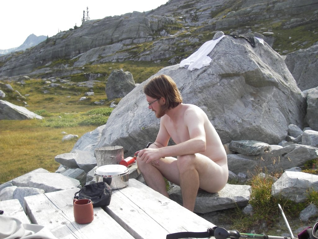 Co-ed naked cooking photo by mikewarren