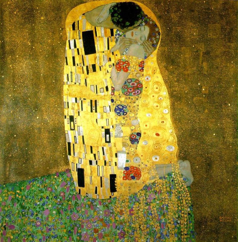 El beso, de Gustav Klimt