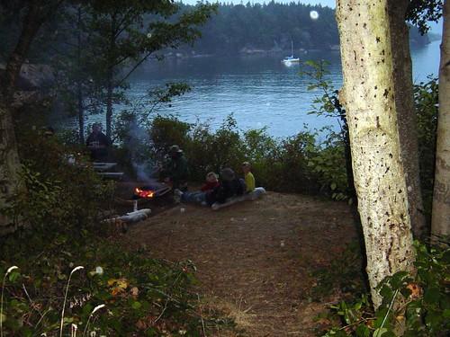Campfire on Sucia
