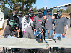 Cousin and Friends at Paintball