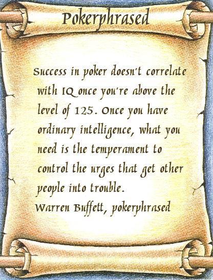 pokerphrased - buffett